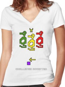 Atari Adventure Challenge Accepted TeeShirt Women's Fitted V-Neck T-Shirt