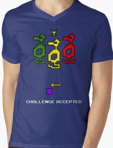 Atari Adventure Challenge Accepted TeeShirt Mens V-Neck T-Shirt