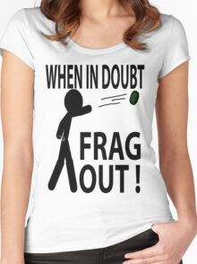 Frag out Women's Fitted Scoop T-Shirt
