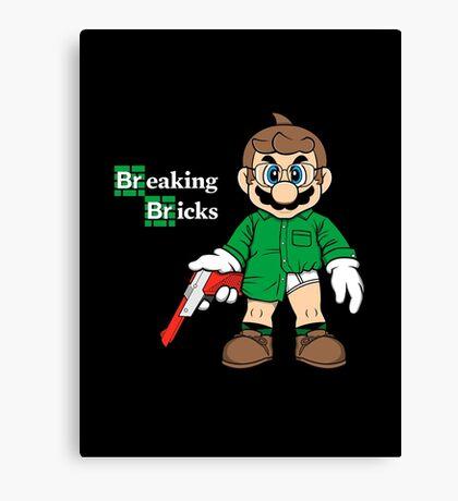Breaking Bricks Canvas Print