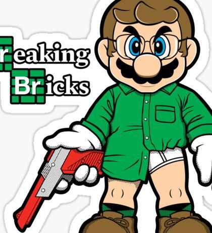 Breaking Bricks Sticker