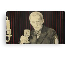 Peter Cushing in mixed media Canvas Print