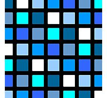 Blue Cube Patterns  Photographic Print