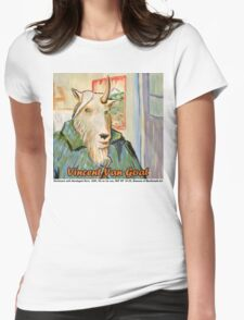 Vincent Van Goat Womens Fitted T-Shirt