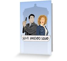 Sci-fi Innuendo Squad Greeting Card