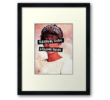 Repping ends and killing trends Framed Print