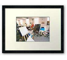 Community Artists Work Space. Framed Print