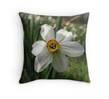 Jonquils among us (Narcissus) Throw Pillow