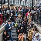 Delays at Oxford Circus Tube Station by Abtin Eshraghi