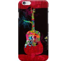 graphic guitar iPhone Case/Skin