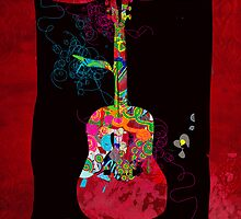 graphic guitar by frederic levy-hadida