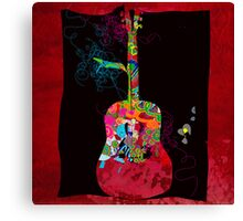 graphic guitar Canvas Print