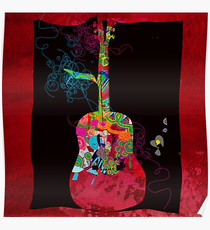 graphic guitar Poster