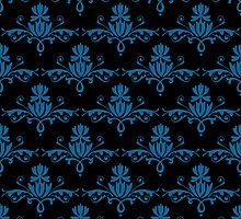 Fleurette~Blue on Black by Larry McFarland