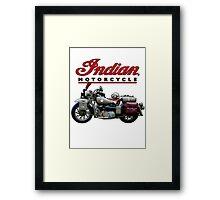 Indian Motorcycle - Vintage Army Framed Print