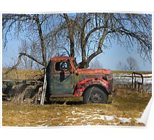 Old Tree, Old Truck Poster