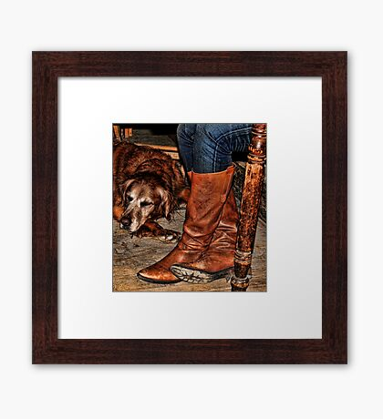 Boots and Buddy Framed Print