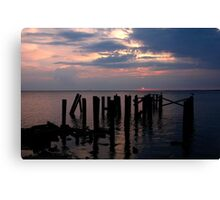 Red Pier Canvas Print