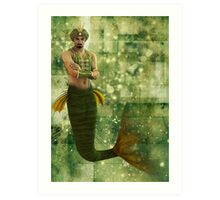 Persian Merman Art Print