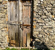 door of Castle San Pietro 3 by Anne Scantlebury