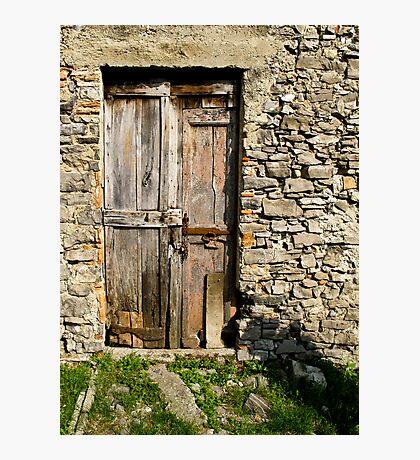door of Castle San Pietro 3 Photographic Print