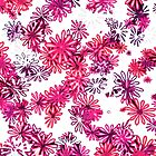 retro flower power pattern by offpeaktraveler