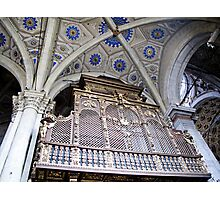 organ pipes in duomo Photographic Print