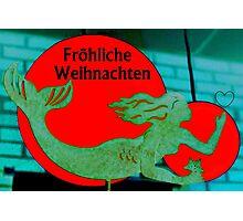 Christmas Mermaid - German Photographic Print