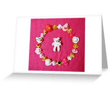 Angel Bear in Duck Blessing Circle, from above Greeting Card
