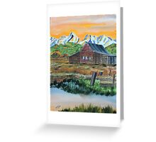 Silent Sunset Greeting Card