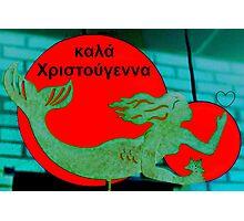 Christmas Mermaid - Greek Photographic Print