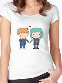 Scott Pilgrim - Scott and Ramona Women's Fitted Scoop T-Shirt