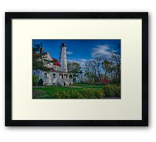 Lighthouse in the Park Framed Print