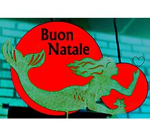 Christmas Mermaid - Italian Photographic Print