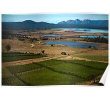 moulting lagoon, the hazards. eastcoast, tasmania Poster