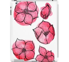 Red Floral iPad Case/Skin