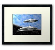 Space Destroyers Framed Print