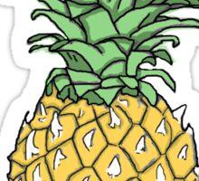 Yellow Pineapple Print Sticker