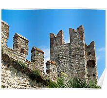 stone turrets of Sirmione Poster