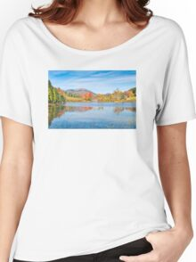Fall on Long Pond Acadia National Park Maine Women's Relaxed Fit T-Shirt