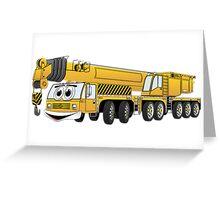 Yellow Crane Cartoon Greeting Card