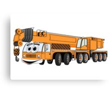 Orange Crane Cartoon Canvas Print