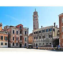 coloured buildings of Venice Photographic Print