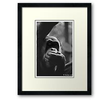 In the shadows of an orang Framed Print