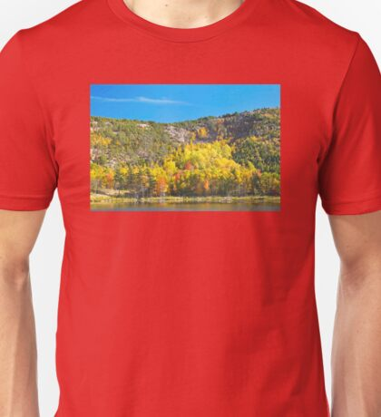 Fall On Beaver Dam Pond Acadia National Park Maine Unisex T-Shirt