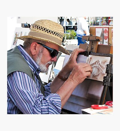 artist at work Photographic Print