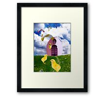 Don't Count Your Chickens Before They Land Framed Print