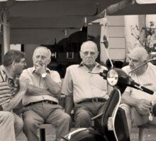 OLD FRIENDS TALKING VINTAGE RETRO SREET PHOTOGRAPHY Sticker