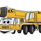 Short Yellow Cartoon Crane by Graphxpro