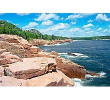 Rocky Summer Seascape Acadia National Park  Photographic Print